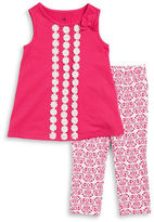 Kids Headquarters Girls 2-6x Girls Floral Tunic and Patterned Leggings Set