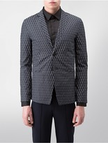 Calvin Klein Platinum Slim Fit Optical Scale Jacket