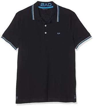 Gas Jeans Men's Ralph/s 3 Polo Shirt, Black 0200, X-Small