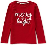 Copper Key Big Girls 7-16 Christmas Merry And Bright Top