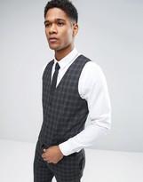 Jack & Jones Premium Skinny Suit Waistcoat In Check