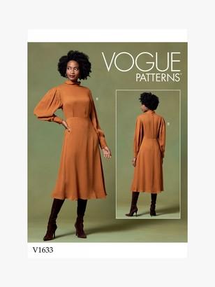 Vogue Women's Dress Sewing Pattern, 1633