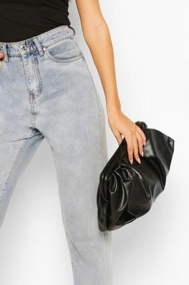 boohoo Slouchy Oversized PU Clutch & Strap Bag