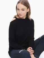 Splendid Melange Sylvie Rib Sweatshirt