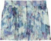 Bubble silk-blend shorts