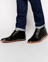 Frank Wright Strachan Leather Chukka Boots - Black