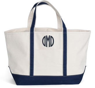 CB Station Totebags Navy - Navy 25'' Monogram Boat Tote