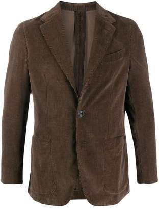 Caruso fitted corduroy jacket