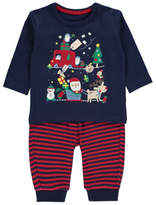 George Embroidered Christmas Top and Bottoms Set