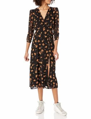 ASTR the Label Women's Joni Wrap Midi Dress with Sleeve