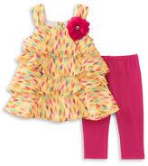 Kids Headquarters Baby Girls Babys Two-Piece Tunic and Capri Pants Set