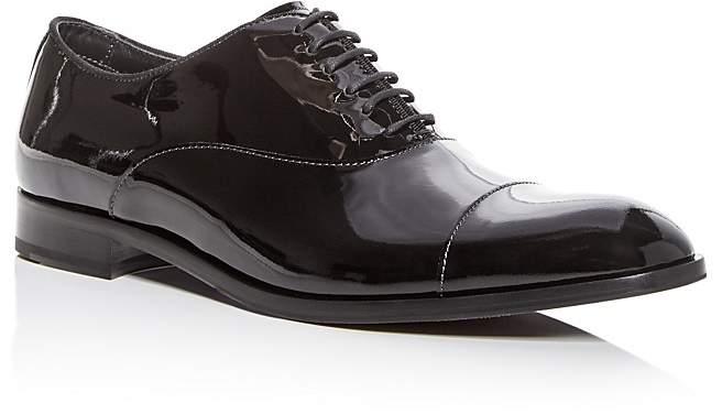Giorgio Armani Men's Patent Leather Cap Toe Oxfords