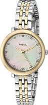 Fossil Women's Quartz Stainless Steel Automatic Watch, Color:Gold-Toned (Model: ES4030)