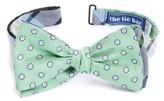 The Tie Bar Men's Crystal Moon Reversible Silk & Linen Bow Tie