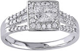 JCPenney MODERN BRIDE 1/2 CT. T.W. Diamond 10K White Gold Engagement Ring