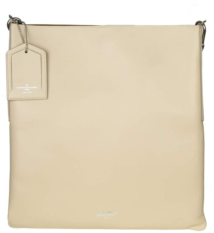 Golden Goose Shopping Bag Hobo In Leather Color Sand