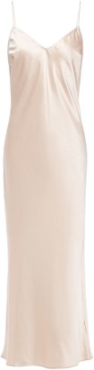 Charli Open-back Satin Midi Dress