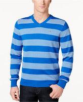 Tommy Hilfiger Men's Carrington Striped V-Neck Sweater