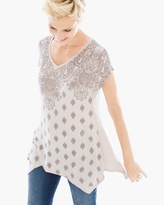 Chico's Neve Paisley Mix Top