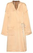 Etro Silk-blend Wrap Coat