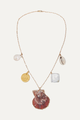 Eliou Argos Gold-filled, Shell And Pearl Necklace