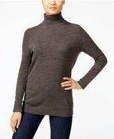 JM Collection Button-Cuff Turtleneck Sweater, Only at Macy's