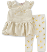 Juicy Couture Cream 'Juicy' Tunic & Bee Leggings - Infant