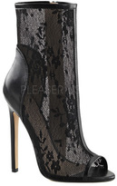 Women's Fabulicious Sexy 1008 Lace Open Toe Bootie