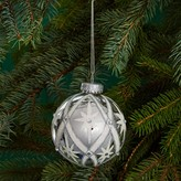 Bloomingdale's Glass Silver Studded Star Ball Ornament - 100% Exclusive
