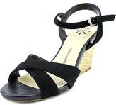 Isaac Mizrahi Sassy Women Open Toe Suede Wedge Sandal.