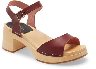 Swedish Hasbeens Basic Platform Sandal