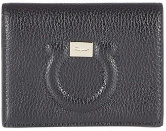 Salvatore Ferragamo City Grainy Wallet (Nero) Handbags
