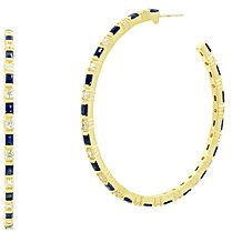 Freida Rothman Color Theory Hoop Earrings in 14K Gold-Plated Sterling Silver