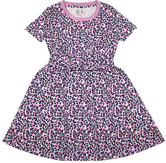 Aeropostale p.s. from Girls' Casual Dresses IVORY - Ivory & Purple Leopard A-Line Dress - Girls
