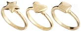 Asos Mix Shape Pinky Ring Pack