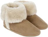 Accessorize Suedette Slipper Boots