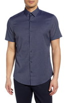 Calibrate Slim Fit Short Sleeve Button-Up Shirt