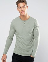 Tommy Hilfiger Long Sleeve Henley in Off White