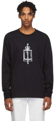 Alexander Wang Black Graphic Long Sleeve T-Shirt