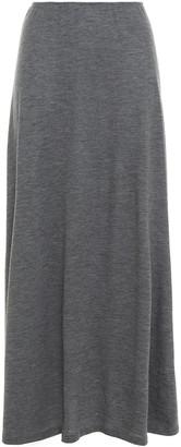 The Row Melange Cashmere-blend Jersey Maxi Skirt