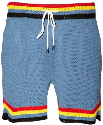 Crochet Basketball Shorts Light Blue
