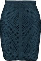 Maje Crocheted mini skirt