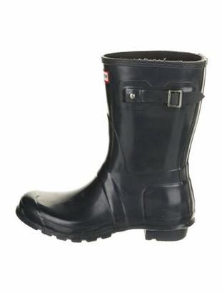 Hunter Lace Trim Embellishment Rain Boots Grey
