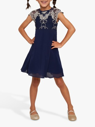 Chi Chi London Girls' Riri Dress, Navy