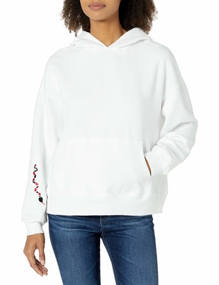 Monrow Women's Slouchy Pullover Hoody w/Snake Embroidery