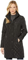 Lauren Ralph Lauren 3/4 Moto Quilt Jacket (Black) Women's Clothing