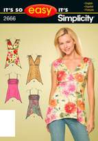 Simplicity Sewing Pattern 2666 It's So Easy Misses' knit Tops