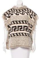 Etoile Isabel Marant Knit Fringe Trimmed Poncho