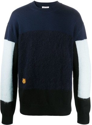 Kenzo Tiger Patch Colour-Block Jumper