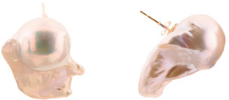 Made In Usa 14k Gold Baroque Pearl Stud Earrings